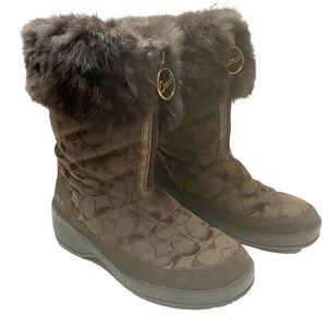 Coach Faith Brown Winter Boots- 8.5